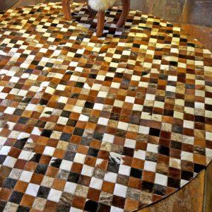 Alfombra Patch Circular Cuadros 5 x 5 cms.