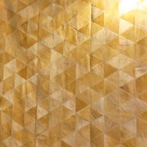 Alfombra Patch Triángulos Camel / Caramelo